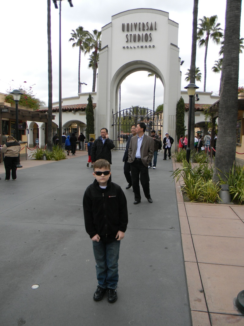 Riley at Universal Studios Hollywood