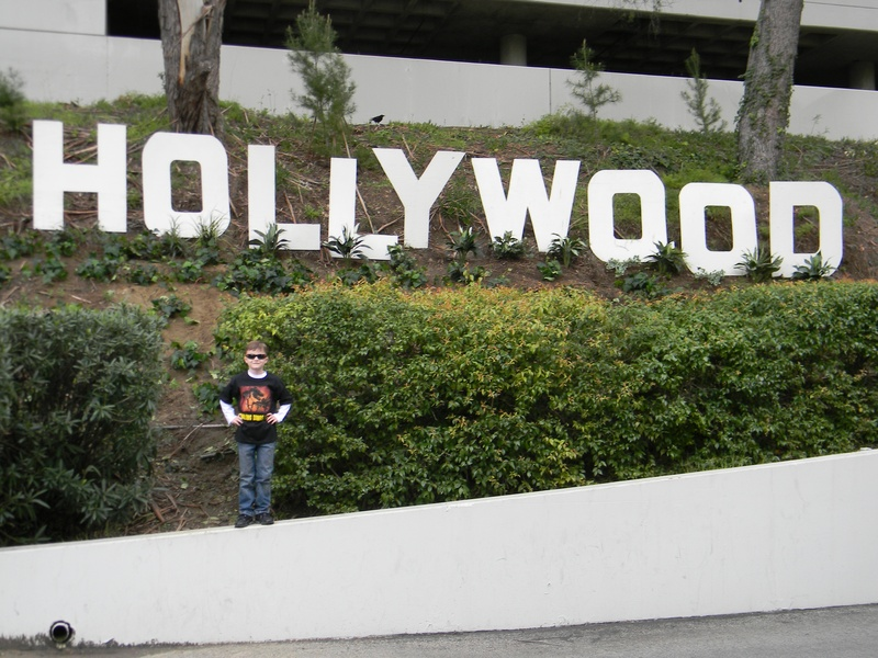 Riley and the little Hollywood sign